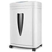 TBTUA Paper Shredder 8-Sheet Heavy Duty Cross-Cut Paper CD Credit Card Shredder 20-Litre Wastebasket With Transparent Window and 4 Casters, 10 Minutes Running Time
