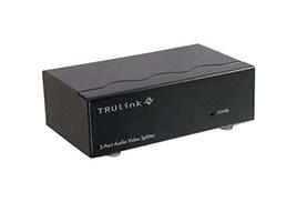 C2G 39967 2-Port VGA Monitor Splitter Extender with 3.5mm Audio Female Input Black