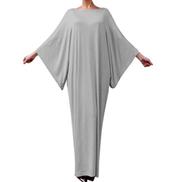 Fankle Muslim Women's Dresses Daily Casual Loose Solid Color Ladies Dresses Long Sleeve Kaftan Robe Arab Dress Islamic Jilbab