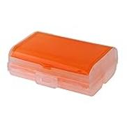Everpert Travel Tablet Pill Medicine Dual Layer 6 Compartments Dispenser BoxOrange