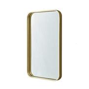 Mirrors Wall Mirror Bathroom Mirror Metal Frame Bathroom Mirror Vanity Mirror Square Mirror Hanging Mirror Color Gold Size 60 80cm Price In Dubai Uae Compare Prices