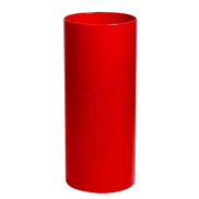 Umbrella stand Umbrella Bucket Cylindrical Modern Storage For Family Hotel Office Crutch Bucket Color : Red