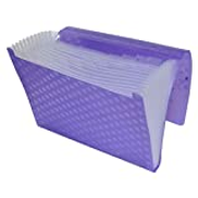 FIS Expanding Files 13 Pockets Purple Color, A4 210 x 297 mm Size - FSPG1302PU