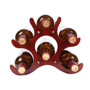 Anchor Solid Wood Wine Rack Hotel 6 Wine Bottle Holder Wine Collection Display Shelf Living Room Decoration