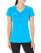 ASICS Women's Set Jersey, Atomic Blue, Medium