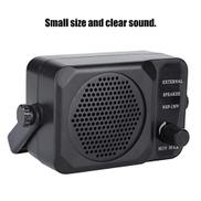 Xuzuyic External Speaker, Durable High Quality 3W ABS Mobile Radio External Speaker, for FT-8900R FT-7800R