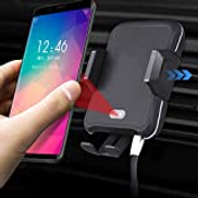 LI-CHARGE Mobile Phone Wireless Car Charger, Phone Holder for GALAXY S10 S10+ S9 S9+ S8 S8+ S7 S7+ S6 S6+ NOTE10 NOTE9 NOTE8 NOTE7 NOTE6