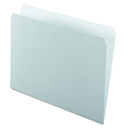 Pendaflex 152GRA Colored File Folders, Straight Cut, Top Tab, Letter, Gray Light Gray Box of 100