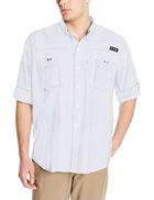 Columbia Men's Super Bahama Long Sleeve Shirt, Sail Mini Check, X-Large