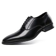 BODOGY-PX Men's Business Shoesmen's Dress Shoes Casual Artificial Leather Men's Shoes Office Shoes Oxford Shoes Men New Lace Up Party Wedding Shoes