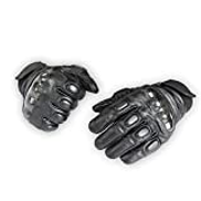 HZYUJIANJIUDIAN Cowhide Tactical Motorcycle Riding Gloves All Refers To Outdoor Sports Anti-skid Racing Gloves