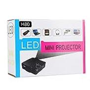 JHM-AE JHMJHM Home Theater Systems 80 lumens 1080P HD Multimedia Mini Portable LED Projector, Support HDMI VGA AV USB SD Card, Model: H80White Video Projector Color : Black
