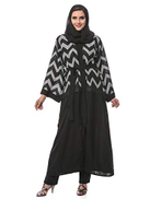 Look Style LS150130c Abayas for Women, Black Grey