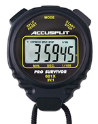 ACCUSPLIT Pro Survivor - A601XBK Stopwatch, Clock, Extra Large Display Black