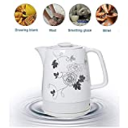 ZSQHD Electric Kettle -1.7 Liter Electric Ceramic Tea Kettle with Detachable Base & Boil Dry Protection
