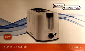 SUPER GENERAL 2 Slice Bread Toaster SGT 820D White SGT820D