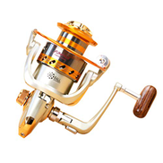 Xuxiaojuanye Metal Rocker Reel, 12 Ball Bearing Professional Fishing Reel with Stainless Steel Body, Corrosion Resistant Spinning Reel Color : EF1000