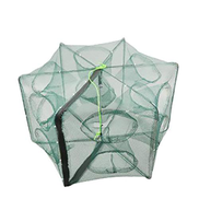 Other 12 Hole Fishing Net Folded Portable Polygon Fish Network Casting Nets Crayfish Shrimp Catcher Tank Trap China Cages Mesh Cheap