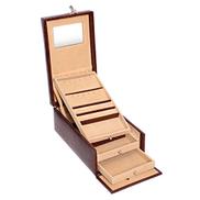 Laveri Jewelry Locker Box, Brown