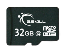 G.Skill 32GB Class 10 MicroSDHC Flash Card with SD Adapter FF-TSDG32GA-C10