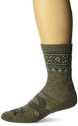 thorlos Men's Thin Padded Outdoor Traveler Crew Socks Casual, Hazelnut Pine, XS