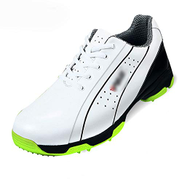 Huangyongchun Men's Golf Shoes Anti-skid Sports Shoes Super Light Waterproof Color : White, Size : 40