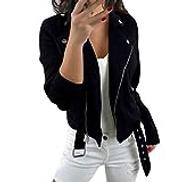 StarryflashingWomen Coat Women Solid Long Sleeve Coat Ladies Fashion Zipped Short Cardigan Suit Jacket Coat Outwear Outdoor Sport Coat
