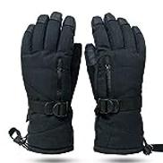 Hjd Gloves Touchscreen Function Snowboard Heated Gloves Warm Snowmobile Snow Gloves Men Women Winter gloves Color : B, Size : M