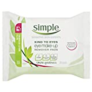 Simple Eye Makeup Remover Pads, 30 Pieces