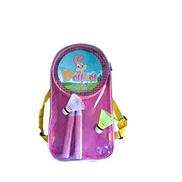 CXBH Badminton Racket, Iron Alloy Frame Shock Absorption Breathable Handle With Handbag Color : Pink