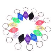 Mobestech 21PCS Keychain Flashlight LED Ultra Bright Mini Flashlight Key Ring Lights Torches, Assorted Colors