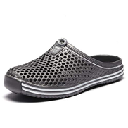 CW-Sandals-0903 Sandals Clogs Mules Slippers for Men Closed Toe Slip On Breathable Anti-Slip Outdoor Beach Shower Water Shoes CWCUICAN Color : Gray, Size : 37 EU