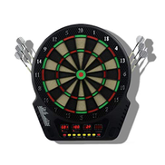 DPPAN Electronic Dartboard 4 LCD Display, 27 Games 243 Options include 6 Darts 24 Tips for 16 Players, Battery power Supply