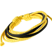 ADYOGER Leather Wristband Men'S Bracelet And Bangle Punk Handmade Wide Cuff Leather Bracelet Braided Men'S Jewelry