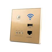 مكرر واي فاي لاسلكي من walmeck ، Power AP Relay ذكي لاسلكي WIFI مكرر موسع جدار مضمن 2.4 جيجا هرتز لوحة راوتر مع مقبس USB