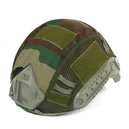 LRKZ Tactical Helmet Cover, Outdoor Military Combat Fast Helmet Camouflage Protective Cover, Air Gun Paintball Shooting Hunting Shooting Equipment, Military Fan Helmet Accessories