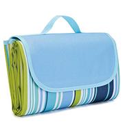 Waterproof Foldable Outdoor Camping Mat Widen Picnic Mat Plaid Beach Blanket Baby Multiplayer Tourist Mat 145x180cm, blue, LNKO92441