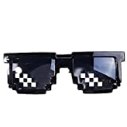 Other With It Glasses 8 bits Mosaic Pixel Sunglasses Men Women Party Eyewear Dealwithit thug life Popular Around the World