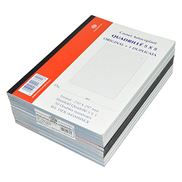 10-Piece FIS French Duplicate Books, NCR Paper 50 Sets 5mm Square, Original with 1 Duplicate, A4 Size - FSDUA45MMNCR