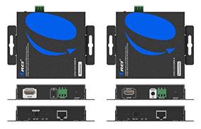 Orei OREI HDMI موسع عبر كابل CAT5e / CAT6 فردي واحد إلى العديد من 4K @ 30Hz مع IR Remote RS232 حتى 400 Ft ProLNK Tecnhology