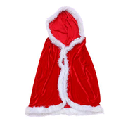 Toyvian Christmas Cloak Santa Claus Robe Hooded Cloak Santa Claus Velvet Hooded Cape Christmas Robe for Christmas Costume Holiday Party Supplies Favors