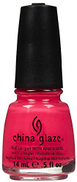 China Glaze Nail Lacquer With Hardeners - 14 Ml, Pool Party, 0.5 fl oz Red