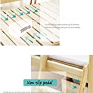 GHGJU Children's bed solid wood crib with guardrail single crib splicing large bedside bed widened bed Give your child a comfortable sleeping environment Color : Wood color, Size : 150 80 40