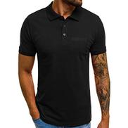 Starryflashingmen t-shirt Men Short Sleeve Casual T-shirt, Male V-neck Solid Slim Pocket Button T Shirt Top Blouse Shirt Tunic Tops
