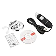 Akozon Digital Microscope, Handheld Wireless WiFi Electronic Microscope 500X HD USB Magnifier Mini Camera with Metal Stand, Compatible for Phone Computer