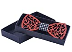 Other Woody bowknot bow tie Hollow environmental protection wood bow tie fashion decoration red bow tie