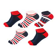 Zimruh Set of 5 Male Socks Leisure Cotton Low Cut Boat Socks