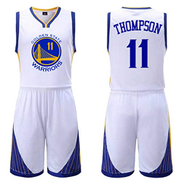 ATI-HSKJ NBA Men's Basketball Jerseys Klay Thompson 11 Golden State Warriors Basketball Fans Uniform vests Retro Breathable Sleeveless t-shirt set,White,2XL:170cm175cm