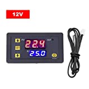 Eookall 3230 Temperature Controller Digital Display Thermostat Module Temperature Control Switch Micro Heating Cooling Temperature Control Panel