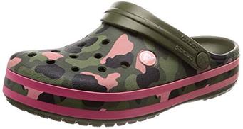 Crocs Crocband للجنسين قباقيب وبغال ، Green Green Green Melon 3S9 ، 42 43 EU